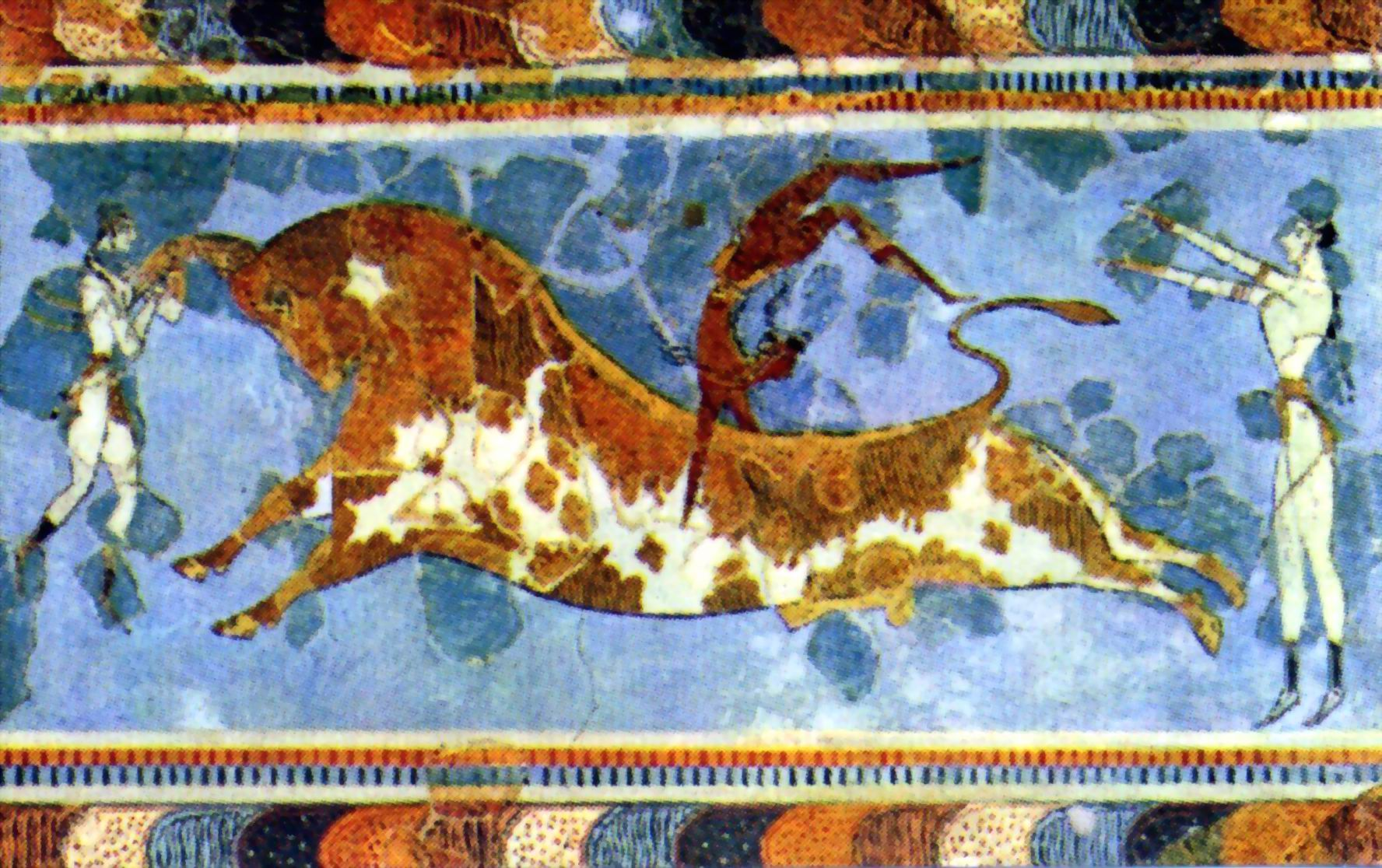 06 04 knossos frescos articles for Dolphin mural knossos