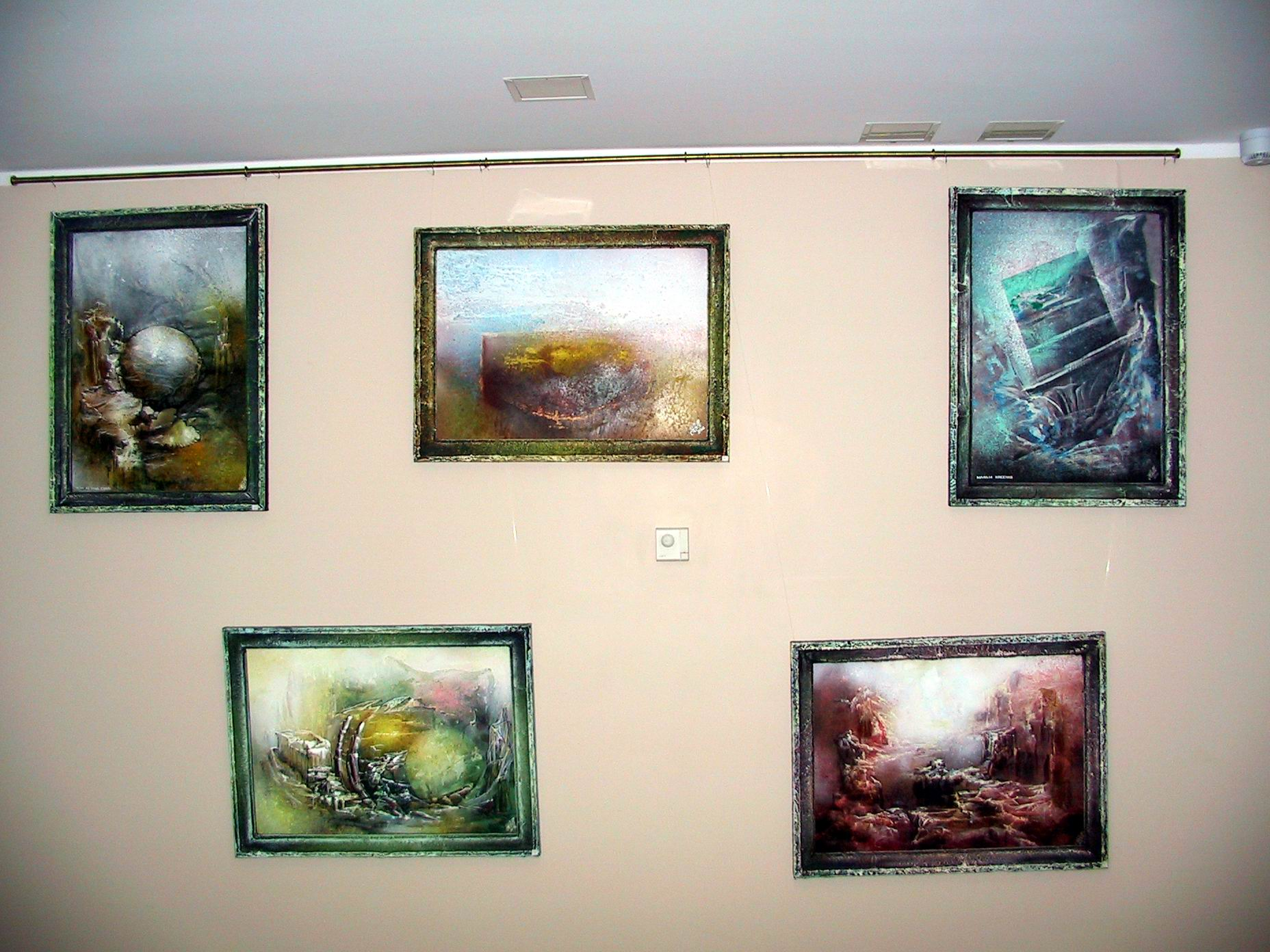 Day 08 10 Artistic Paintings On A Wall In The Hotel Tallinn Estonia